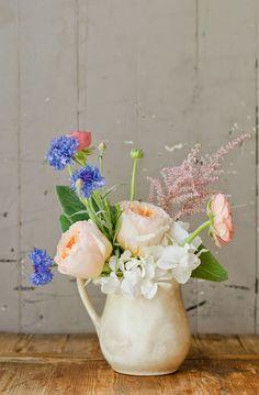 Vintage Whites Blog: Creative ways to display flowers using vintage goods!