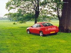 Red fiat coupe