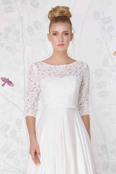 SADONI wedding accessory LONE top with big lace applications. Perfect for the traditional wedding