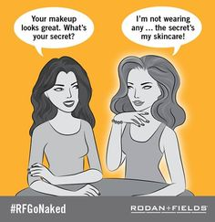 I've been foundation free since only 2 weeks after starting on Rodan and Fields Redefine and macrodermabrasion paste! I love this stuff! #RFGoNaked https://mreese2.myrandf.com
