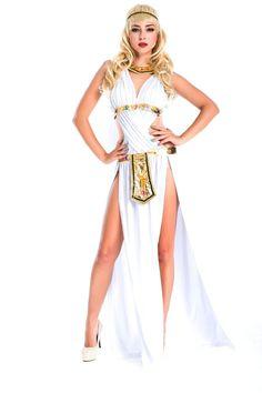 New Hot Sell White Sexy Cosplay Queen Goddess Dress Women Egyptian Girls Halloween Costume Halloween Ethnic Clothing Queen Halloween Costumes, Halloween Dress, Women Halloween, Halloween Games, Halloween Christmas, Indian Costumes, Costumes For Women, Costume Dress, Cosplay Costumes