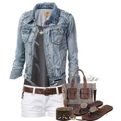 """""""Denim Jacket"""" by tmlstyle on Polyvore"""
