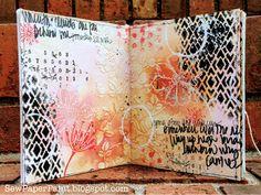 SewPaperPaint: Handmade One Page Watercolor Journal Tutorial