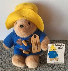 "Paddington Bear By Eden Coat Yellow Hat 9"" Plush Stuffed #32821 With Tags  #EdenToys"