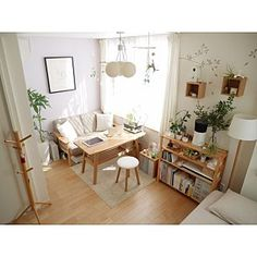 Home interior Design Videos Living Room Hanging Plants Link – Right here are the best pins around Coastal Home interior! Studio Apartment Decorating, Apartment Interior, Room Interior, Cozy Studio Apartment, Tiny Studio Apartments, Studio Interior, Minimalist Studio Apartment, Interior Livingroom, Interior Paint