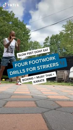 Martial Arts: 4 Footwork Drills for Fighters Boxing Training Workout, Mma Workout, Muay Thai Training, Kickboxing Workout, Gym Workout Videos, Workouts, Boxing Techniques, Fight Techniques, Martial Arts Techniques
