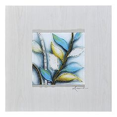 Renwil Summer Foliage II Framed Wall Decor by Dominic Lecavalier Painting Frames, Painting Prints, Framed Artwork, Framed Wall, Turquoise, Art Of Living, Metal Wall Art, Frames On Wall, Wood Print