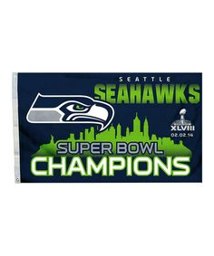 Another great find on #zulily! Seattle Seahawks Grommet Flag #zulilyfinds