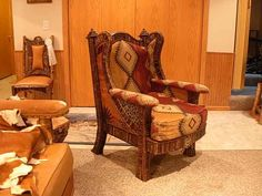 Wing Back Chair  #cnc #chairs