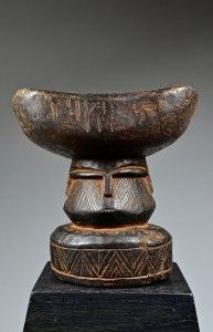 Teke Headrest from DRC  Approximate age : Early - Mid 20th Century