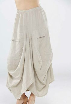 LAGENLOOK VERY QUIRKY SKIRT/ PARACHUTE COLOUR :STONE COLOUR LAYERING