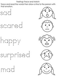 Printables Emotions Worksheets feelings emotions activities and worksheets on pinterest preschool feeling year kindergarten kids worksheet w