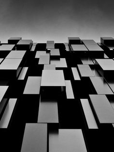 Architecture tones of black to pale grey