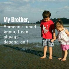 Best Brother Quotes and Sibling Sayings Collection From Boostupliving. Here we've collected more than 100 Best Brother Quotes For you. Brother Sister Love Quotes, Brother And Sister Relationship, Brother Humor, Sister Quotes Funny, I Love My Brother, Funny Quotes For Kids, Funny Kids, Happy Birthday Brother From Sister, Happy Birthday Quotes For Her