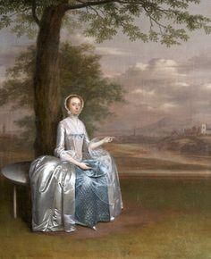 Portrait of Mary Cawthorne Unwin, Arthur Devis, oil on canvas, c. 1750.