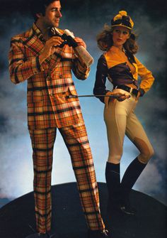 1970's Mens Plaid Suits - why don't mens fashion rotate thru decades? I'd enjoy seeing some of these at meetings. Make things more colorful!