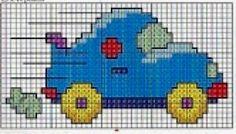 Risultati immagini per ponto cruz barco Cross Stitch For Kids, Just Cross Stitch, Cross Stitch Baby, Cross Stitch Charts, Cross Stitch Patterns, Hama Mini, C2c Crochet, Crochet Doilies, Baby Embroidery