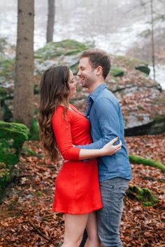 Enchanting #forest e-session #engagement #agnesfarkasphotography #österreich #cosy #e-session #couple #love #winter #wood #red #dress #cutie