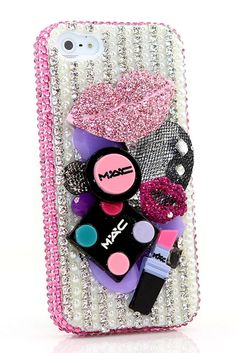 Protective iPhone 5 5s 5c bling case Miss Make-Up Design DIY phone cover  accessories df2116fb8b