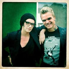 These two = ♥ Brian Molko Steve Forrest. Had a lovely dream about Molko the other day :)