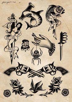 Traditional Tattoo Drawings, Traditional Black Tattoo, Traditional Tattoo Old School, Traditional Tattoo Design, Traditional Tattoo Illustration, Traditional Tattoo Stencils, Traditional Nautical Tattoo, American Traditional Tattoos, Traditional Tattoo Flash Art