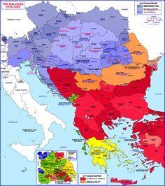 Balkans Historical Map 1815 1859 - Balkans maps