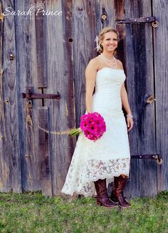 How to Wear Cowboy Boots with a Wedding Dress | Dress cowboy boots ...