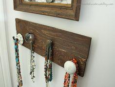 Pallet Necklace Holder {DIY Jewelry Organizer} - Megan Brooke Handmade