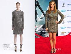 Emily VanCamp In Monique Lhuillier – 'Captain America: The Winter Soldier' LA Premiere