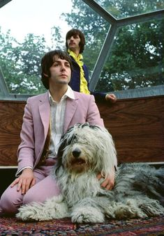 Paul McCartney  and Ringo Starr  #celebrities #dogs #pets