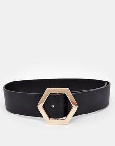 ASOS Hexagon Shaped Buckle Wide Waist Belt Hebillas 8fc6ca26eeec