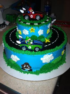 my version of a mario kart cake