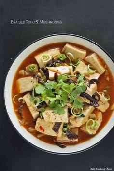 Braised Tofu and Mushrooms