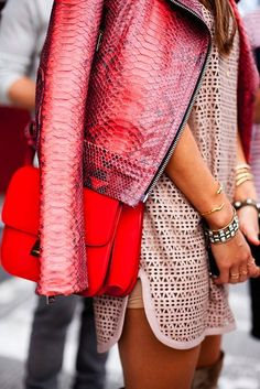 Icon Trend Blog - Global Views on Trends | Trending: The Red Snake and Snake Skin -  Fashion - Looks - Colours - Styling