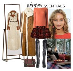 """Winter Essentials - Chloe Reversible Shearling Cost"" by katiethomas-2 ❤ liked on Polyvore featuring Mitchell Gold + Bob Williams, Chloé, Alice + Olivia, Alexander McQueen, Chanel and Yves Saint Laurent"