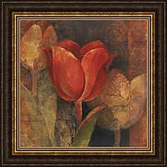 @Overstock.com - Albena Hristova 'Tulip Reflection' Framed Print Art - This contemporary framed art, 'Tulip Reflection' by Albena Hristova, brings understated style to any room. Featuring earthy shades of red and brown, this print is framed with a dark-gold copper finish, fitting perfectly with your fall-themed decor.  http://www.overstock.com/Home-Garden/Albena-Hristova-Tulip-Reflection-Framed-Print-Art/6194000/product.html?CID=214117 $112.99