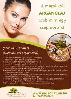 Az argánolaj enyhíti a természetes bőröregedés látható jeleit, helyreállítja a bőr nedvességtartalmát, visszaadja a haj egészséges ragyogását.