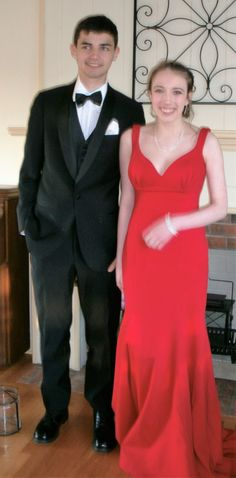 grandson and his date for sr. prom