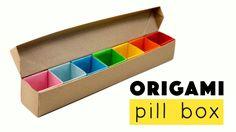 Origami Pill Box / Organizer Tutorial  ♥︎ DIY ♥︎