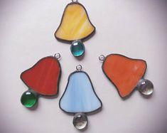 1 (pc) bell suncatcher vitrail tiffany technique fait à la main décoration cadeau présent pour son lui ornement de Noël UK