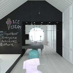Картинки по запросу дизайн черный белый комната девочка