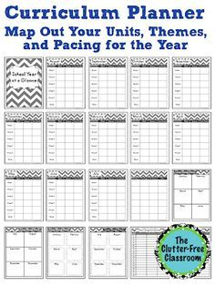 Curriculum Planner {Editable Maps, Pacing Guide, Lesson Planner, Teacher Organization Tool}
