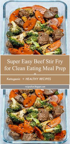 """"""" Super Easy Beef Stir Fry for Clean Eating Meal Prep """" - The second recipe in our FOUR part series featuring FOUR different, but completely interchangeable - Easy Beef Stir Fry, Stir Fry Meal Prep, Healthy Stir Fry, Veggie Stir Fry, Healthy Meal Prep, Healthy Dinner Recipes, Healthy Eating, Clean Eating Stir Fry Sauce, Healthy Dinners"""