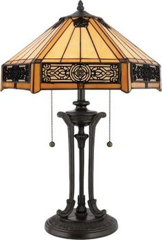 Quoizel European Style Table Lamp from the Tiffany Collection