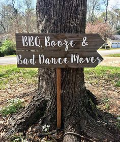 BBQ Booze & Bad Dance Moves, I Do BBQ Sign, Wedding Sign Wood, Rustic Wedding Decor, Rustic Wedding Signage, Rustic Reception Sign. www.platteriverfort.com #BBQ #receptionsign #countrywedding