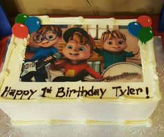 Alvin and the chipmunk party cake