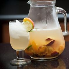 Sweet summer fruit and white wine combine for a light and refreshing sangria.