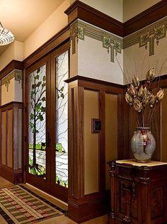 Check out the Arts & Crafts wallpaper trims!  Bradbury & Bradbury wallpaper.