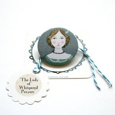 The Lady of Whispered Prayers Pinback Button by LilyMoon on Etsy, $2.50