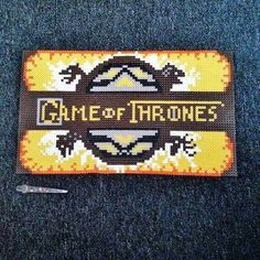 Game of Thrones - Frame hama perler beads (24x36cm) by daisydanielle17